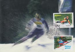 Carte  Maximum  1er  Jour   FRANCE   Championnat  Du  Monde  De  SKI   VAL  D' ISERE   2009 - Maximumkarten