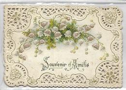 CARTE FANTAISIE - Souvenir D'AMITIE - MUGUET - Format 11 X 7.5 Cm - Non Classés