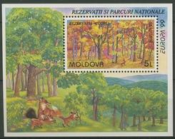 Moldawien 1999 Europa CEPT Nationalparks Block 18 Postfrisch (C90314) - Moldova