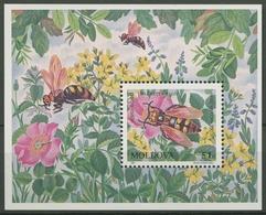 Moldawien 1997 Gefährdete Insekten Block 13 Postfrisch (C90312) - Moldova