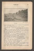1924 CABOURG CALVADOS (14) - CHEMIN DE FER ETAT 243 KM DE PARIS A CABOURG PAR TROUVILLE - 244 KM PAR MEZIDON - Ferrocarril