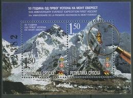 Bosnien-Herzegowina (Serb.Republik) 2003 Mt. Everest Block 8 Postfrisch (C90327) - Bosnia And Herzegovina