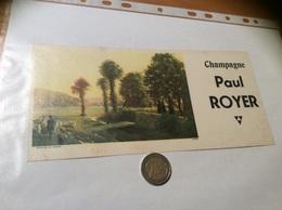 Buvard «Champagne Paul ROYER» - Carte Assorbenti