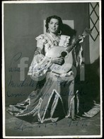 1947 ORIGINAL PHOTO FOTO HAND SIGNED FERNANDA BAPTISTA FADO FADISTA PORTUGAL - Famous People