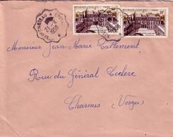 VOSGES - CONVOYEUR LIGNE - NEUCHATEAU A EPINAL - 21-4-1958 SUR PALAIS DE L'ELISEE X 2 - Marcophilie (Lettres)
