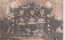 57 - COURCELLES SUR NIED - CARTE PHOTO - BENEDICTION DES CLOCHES LE 13.04.1924 - Autres Communes