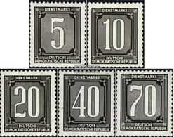 DDR DB1-DB5 (completa Edizione) MNH 1956 Francobolli Per Amministrative Post - [6] Democratic Republic