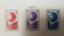 O) 1949 EGYPT, UPU- GLOBE EMBLEM . SCT 281 - 283, MINT - Egypt