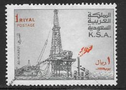 Saudi Arabia Scott # 750 Used 2 Dot Variety Oil Rig,1976-80 - Saudi Arabia