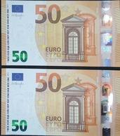PAAR Correlativ EURO SPAIN 50 EUROS V00, DRAGHI, UNCIRCULATED - EURO
