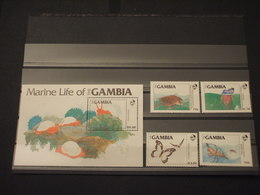 GAMBIA - 1984 FAUNA 4 VALORI + BF - NUOVI(++) - Gambia (1965-...)
