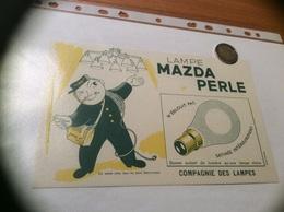 Buvard «LAMPE MAZDA PERLE» (Ampoule) - Electricité & Gaz