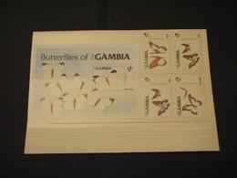 GAMBIA - 1985 FARFALLE 4 VALORI + BF - NUOVI(++) - Gambia (1965-...)
