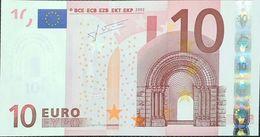 10 Euros De La Segunda Firma DeTrichet Plancha U005F5, Letra M23354430214,sc/plancha/UNCIRCULATED - EURO