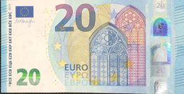 20 Euros De La Tercera Firma Draghi, Plancha U022A4, Letra UC,sc/plancha/UNCIRCULATED - EURO