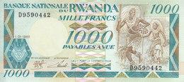 RWANDA 1000 FRANCS 1988 P-21 UNC */* - Rwanda