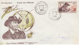 Enveloppe  FDC  1er  Jour   FRANCE   Jean  Henri   FABRE     SERIGNAN  DU  COMTAT    1956 - 1950-1959