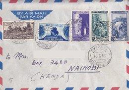 Aerogramma Diretto In Kenia Da Torino - 1951 - Moda - Lavoro - Michetti - 6. 1946-.. Repubblica