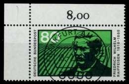 BRD 1988 Nr 1358 Zentrisch Gestempelt ECKE-OLI X8B2642 - Gebraucht