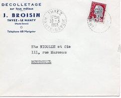 LSC 1963 - Cachet Perlé   THYEZ   (Haute Savoie) - Matasellos Manuales