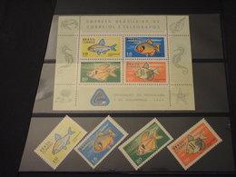 BRASILE - 1969 PESCI 4 VALORI (ritagli)+ BF- NUOVI(++) - Brasile
