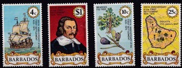 Barbados (Sc #428-31) MNH (Complete Set Of 4) 350th Anniversary Of The First Settlement (1975)2s - Barbados (1966-...)