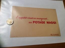Buvard «L'appétit Vient En Mangeant Un POTAGE MAGGI» - Potages & Sauces