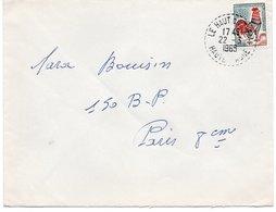 LSC 1965 - Cachet Perlé   LE HAUT Du THEM  (Haute Saône) - Postmark Collection (Covers)