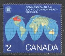 1983   $2 Commonwealth Day Worldmap  Sc 977 MNH - 1952-.... Règne D'Elizabeth II