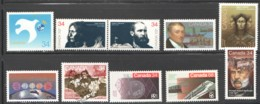 1986  10 Stamps  Sc 1090-6, 1103, 1108-10, 1117 - 1952-.... Règne D'Elizabeth II
