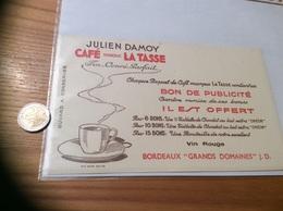 Buvard «JULIEN DAMOY - CAFÉ MARQUE LA TASSE» - Café & Thé
