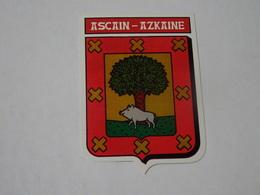 Blason écusson Adhésif Autocollant Ascain (Pays Basque) - Obj. 'Souvenir De'