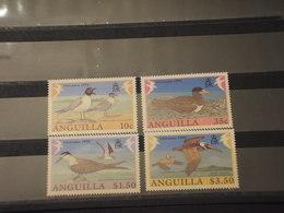 ANGUILLA - 1990 UCCELLI 4 VALORI- NUOVI(++) - Anguilla (1968-...)