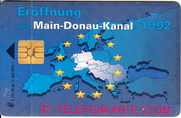 GERMANY - Europe Map, Main Donau Kanal(K 241), Tirage 11000, 09/91, Used - Phonecards