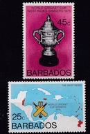 Barbados (Sc #438-39) MNH (Complete Set Of 2) World Cricket Championships (1976)2s - Barbados (1966-...)