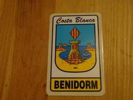 Blason écusson Adhésif Autocollant  Benidorm Espagne Adhesivo Escudo Adesivi Stemma Aufkleber Wappen - Obj. 'Souvenir De'