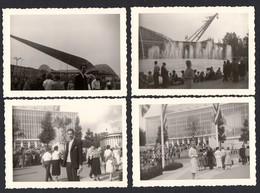 EXPO 58 - 4 Photos - 4 Fotos - Bruxelles - Brussel - Tentoonstelling 1958 - Personas Anónimos