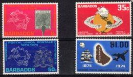 Barbados, 1974, SG 501 - 504, MNH - Barbados (1966-...)