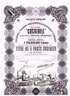 Action Uncirculed - Cockerill-Ougrée-Providence Et Espérance-Longdoz - Titre De 1970 - - Industrie