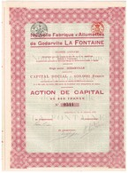 Titre Ancien - Nouvelle Fabrique D'Allumettes De Godarville La Fontaine - Titre De 1923- - Industrie