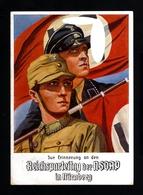 13549-GERMAN EMPIRE-MILITARY PROPAGANDA POSTCARD RICHSPARTEITAGE Nurnberg.NSDAP.1934.WWII.DEUTSCHES REICH.POSTKARTE - Germany
