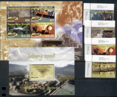 PNG 2008 Gold Mining Industry + 2xMS MUH - Papua New Guinea