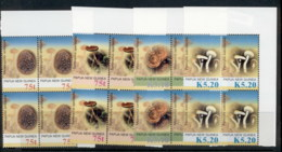 PNG 2005 Funghi Mushrooms Blk4 MUH - Papua New Guinea