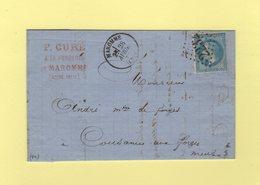 Maromme - 74 - Seine Inferieure - GC 2232 - 28 Avril 1871 - Storia Postale