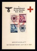 J41-GERMAN EMPIRE-MILITARY PROPAGANDA CARD German RED CROSS.1941.WWII.Gedenkblatt.DEUTSCHES REICH.KARTE - Allemagne