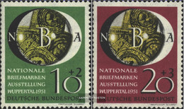 FRD (FR.Germany) 141-142 (complete Issue) Tested Unmounted Mint / Never Hinged 1951 National Stamp Exhibition - Unused Stamps