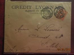 Lettre De 1901 à Destination De St Malo (cachet Daguin) - 1877-1920: Semi Modern Period