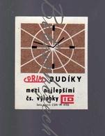 K6-48 CZECHOSLOVAKIA 1970 Prim Alarm Clocks Chronotechna Sternberk - Clock Face - The Best CZ Products CID - Zündholzschachteletiketten
