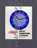 K6-49 CZECHOSLOVAKIA 1970 Prim Alarm Clocks Chronotechna Sternberk - Clock Face - Zündholzschachteletiketten