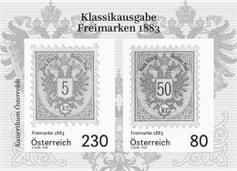 Austria 2019 - 'Freimarken 1883' Schwarzdruck Black Proof Mnh - 1945-.... 2ª República